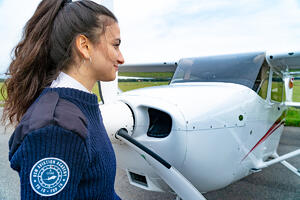 OSM Aviation Academy pilot student by Cessna