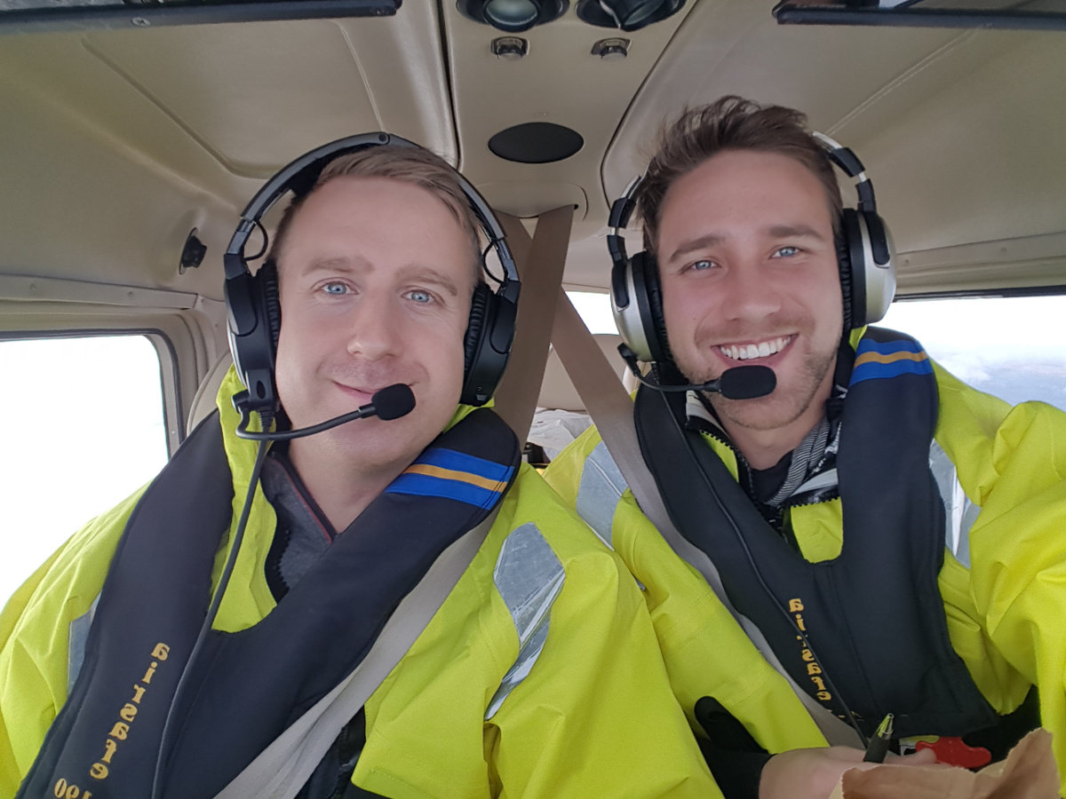 Ferry flight pilot, Niclas and Jesper