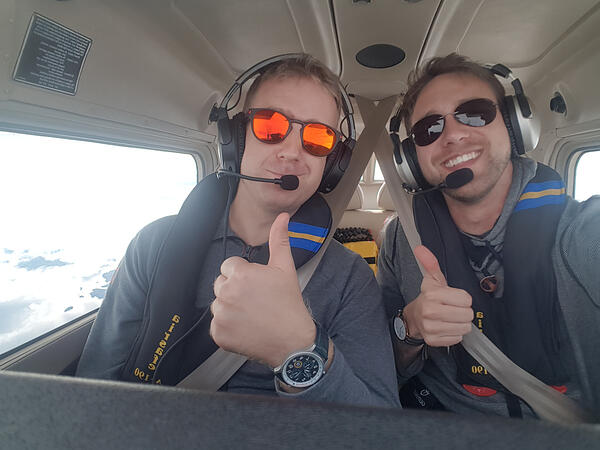 Niclas and Jesper in the Cessna