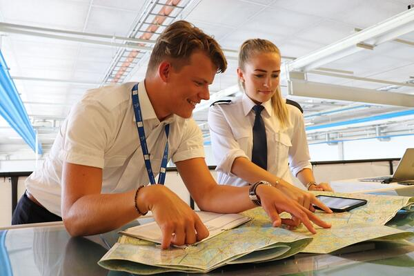 Pre-flight planning - Albin and Isabelle