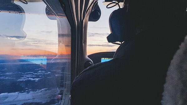 View from the Cessna 172